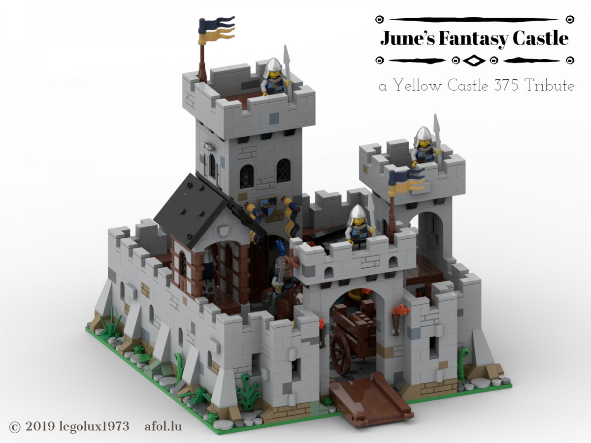 June's Fantasy Castle - a Yellow Castle 375 Tribute 01