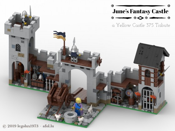 June's Fantasy Castle - a Yellow Castle 375 Tribute 05