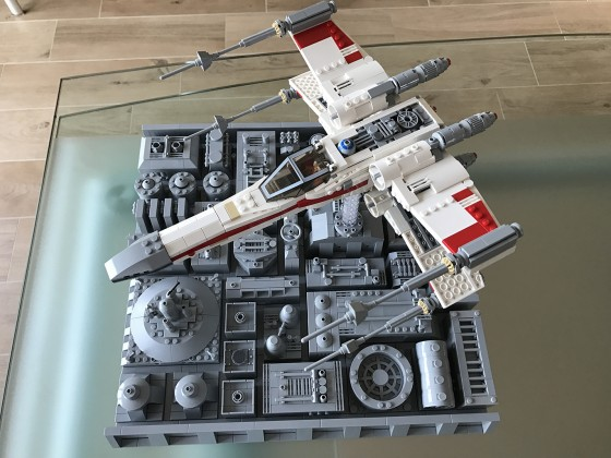 Incom T-65 X-Wing Starfighter Red One on Death Star - 05