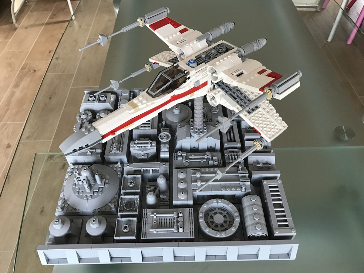 Incom T-65 X-Wing Starfighter Red One on Death Star - 03