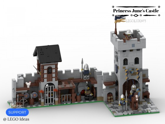 Princess June's Castle - my LEGO Ideas Project 07
