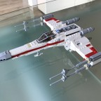 Incom T-65 X-Wing Starfighter Red One on Death Star - 01