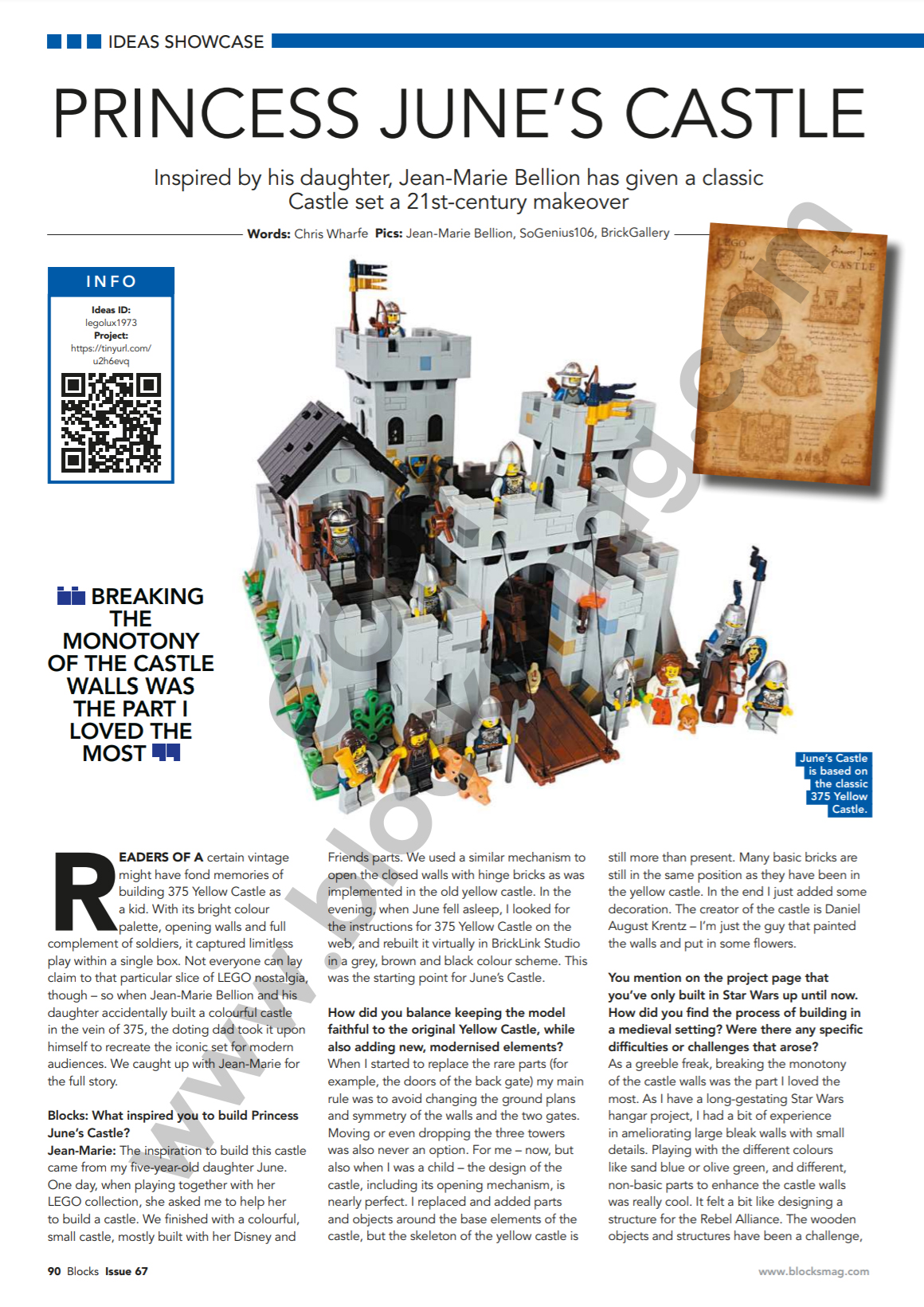 Princess June's Castle - my LEGO Ideas Project - Blocks magazine Issue 67 Showcase