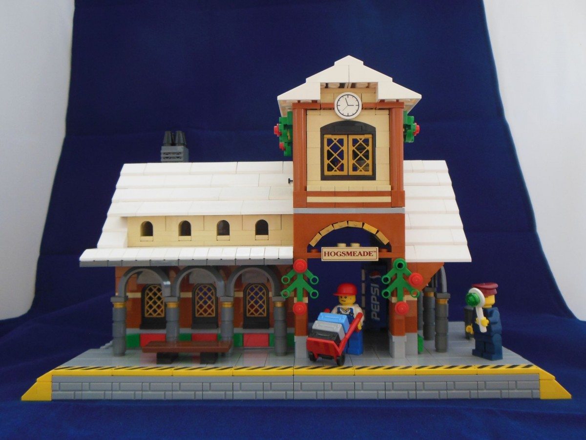 Winter Village Train Station Front