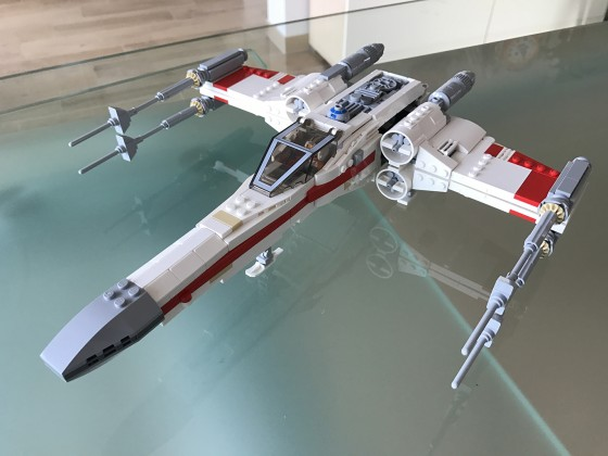 Incom T-65 X-Wing Starfighter Red One on Death Star - 02