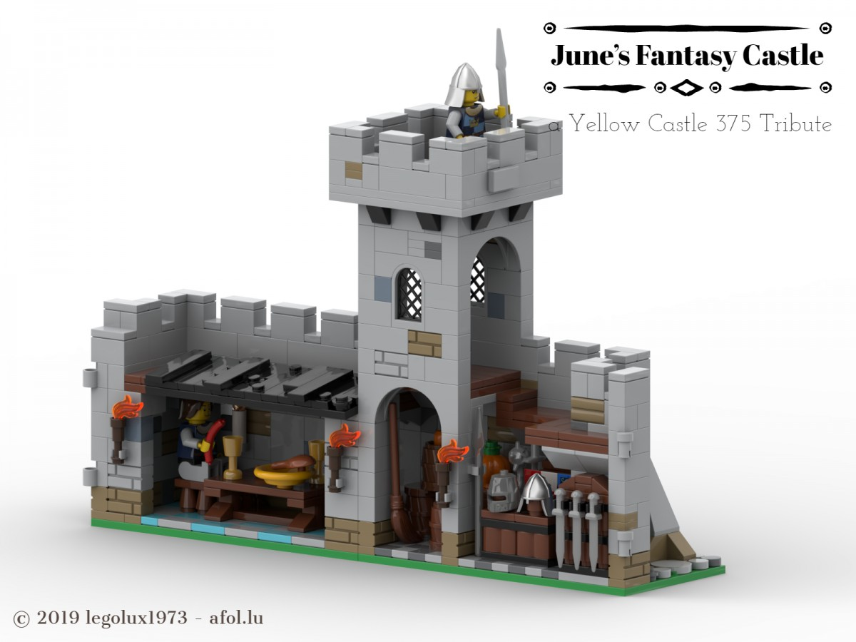 June's Fantasy Castle - a Yellow Castle 375 Tribute 02