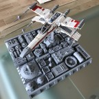 Incom T-65 X-Wing Starfighter Red One on Death Star - 04