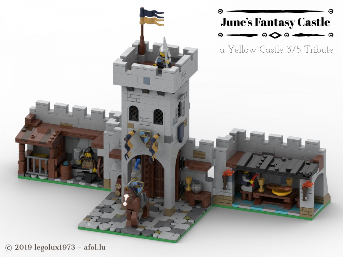 June's Fantasy Castle - a Yellow Castle 375 Tribute 04