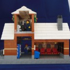 Winter Village Train Station Back